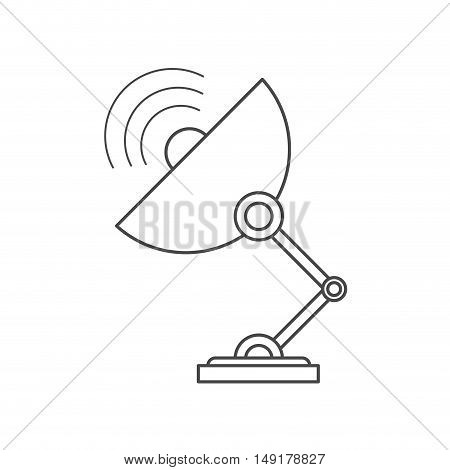 Antenna icon. Technology communication and satellite theme. Isolated design. Vector illustration