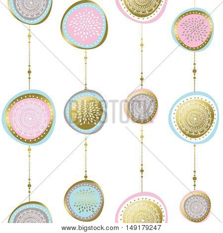 Gold Christmas Pattern Ornaments And Decoration
