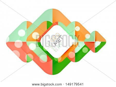 Glittering abstract geometric vector background