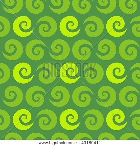 Swirl green seamless pattern, vector illustration for Your design, eps10