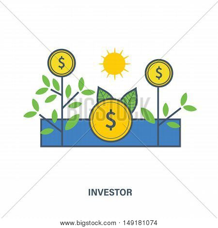 The meaning of the illustrations in the image of the investor, the tools of interaction with the object of investment contributions to the investment object.
