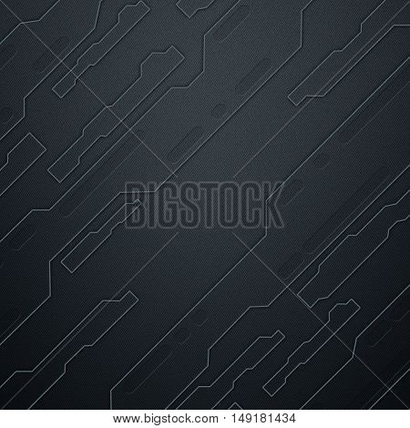 scifi wall. black carbon fiber wall. metal background and texture 3d illustration. technology concept.