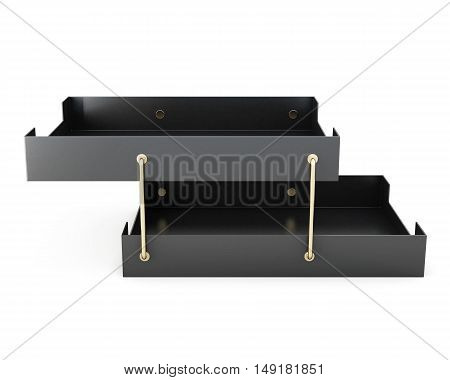 Tray For Paper Isolated On White Background. 3D Rendering