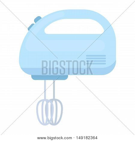 Mixer icon in cartoon style isolated on white background. Household appliance symbol vector illustration.