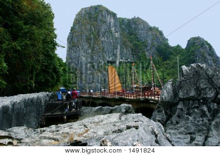 A Stop Along Halong Bay