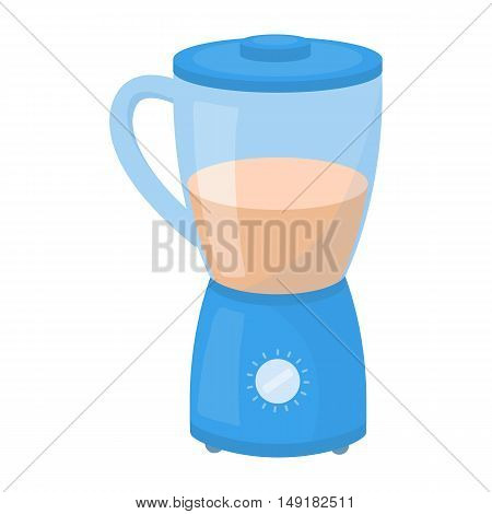Blender icon in cartoon style isolated on white background. Household appliance symbol vector illustration.