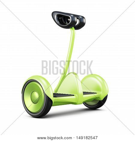Gyroscooter With Handle On White Background. 3D Rendering