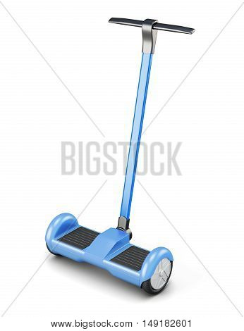 Segway With Handle Isolated On A White Background. 3D Rendering