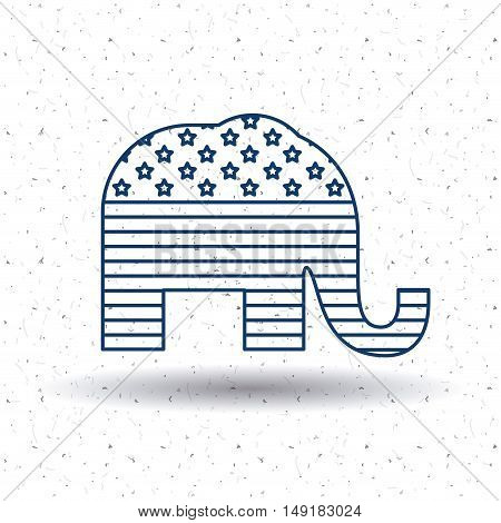 Elephant icon. Vote election nation and government theme. Silhouette and isolated design. Vector illustration