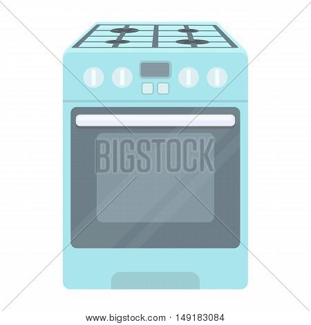 Kitchen stove icon in cartoon style isolated on white background. Household appliance symbol vector illustration.