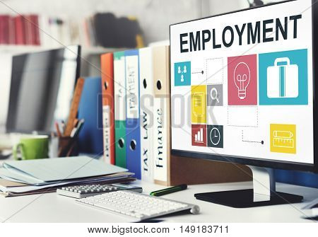 Job Opportunities Motivation Employment Competence Concept
