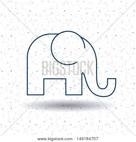Elephant icon. Animal and nature theme. Silhouette and isolated design. Vector illustration