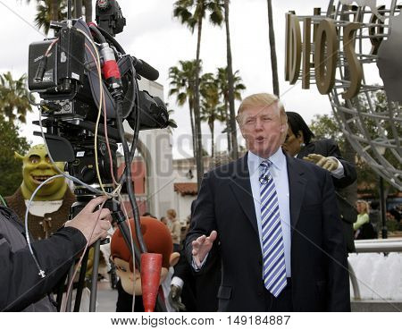 Donald Trump at the season six casting call search for 'The Apprentice' held at the Universal Studios in Hollywood, USA on March 10, 2006.