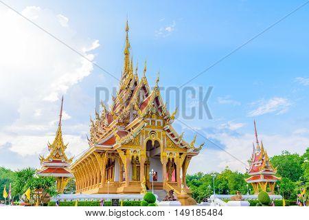 Wat Pa Saeng Arun temple in Khon Kaen, Thailand.