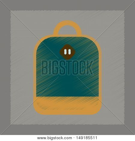 flat shading style icon of school bag