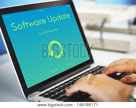 Software Update Electronic Device Display Concept