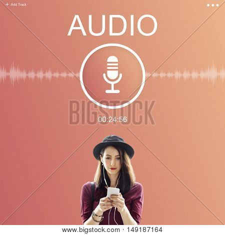Audio Record Application Sound Concept