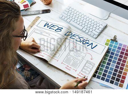 Web Design Layout Content Template Graphic Concept