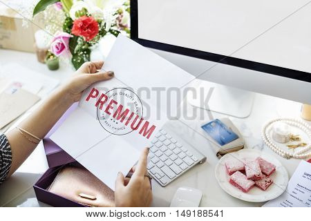 Business Premium Award Credit Concept