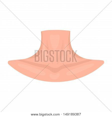 Neck icon in cartoon style isolated on white background. Part of body symbol vector illustration.