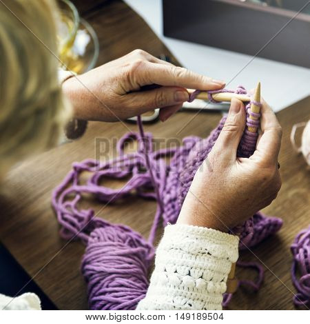 Knit Hobby Homemade Creativity Crochet Concept