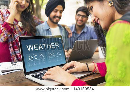 Weather Report Forecast Temperature Concept