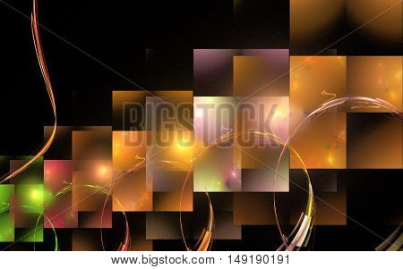 Fractal : the line image in the form of rectangles reminiscent of the numerous Windows .
