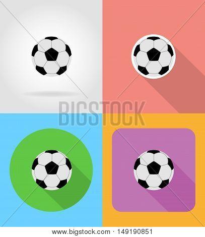 football soccer ball flat icons vector illustration isolated on background