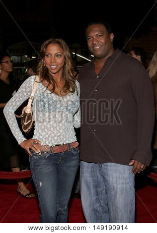 Holly Robinson Peete and Rodney Peete at the Los Angeles premiere of 'Get Rich or Die Tryin' held at the Grauman's Chinese Theatre in Hollywood, USA on November 3, 2005.