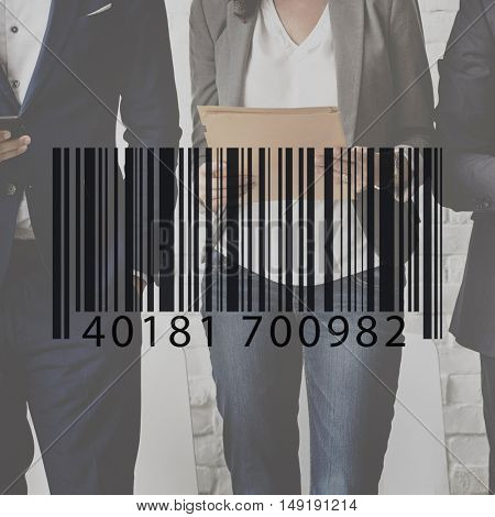 Barcode Label Business People Graphic Concept