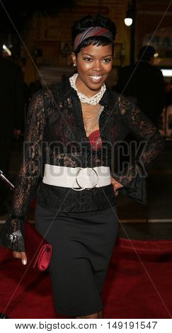 Malinda Williams at the Los Angeles premiere of 'Get Rich or Die Tryin' held at the Grauman's Chinese Theatre in Hollywood, USA on November 3, 2005.