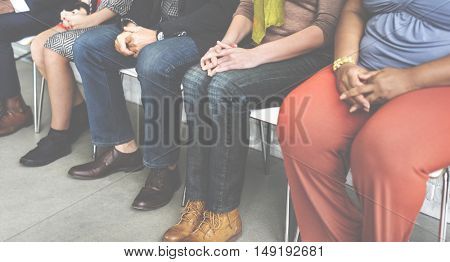 Chairs Friends Trendy Casual Sitting Diverse Concept