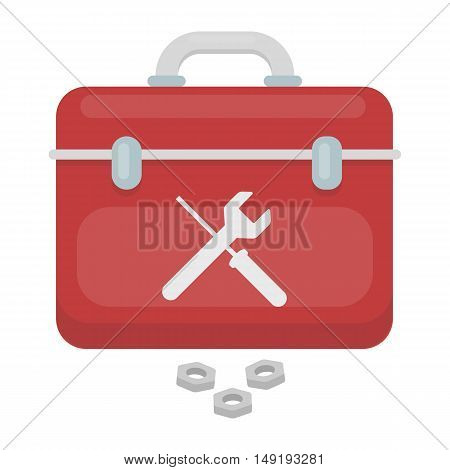 Toolbox icon in cartoon style isolated on white background. Plumbing symbol vector illustration.