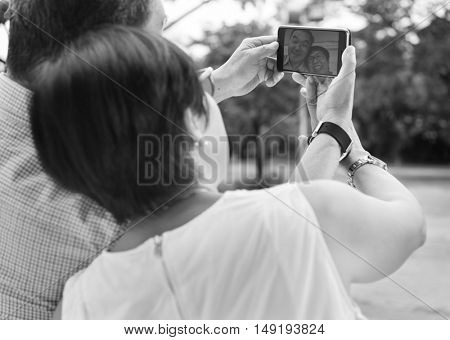 Senior Couple Leisure Outside Concept