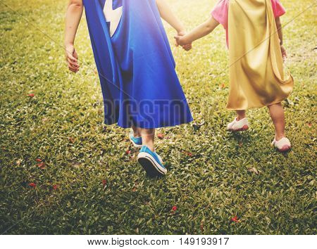 Siblings Dressup Playtime Park Concept