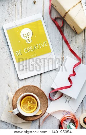 Be Creative Design Ideas Bulb Innovation Concept