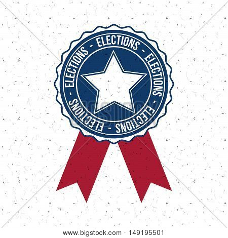 Star inside button icon. Vote election nation and government theme. Colorful design. Vector illustration