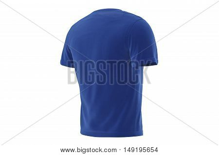 T-shirt blue mens elegant stylish soft outfit. 3D graphic