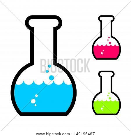 Laboratory Flask With Acid. Tube For Research. Scientific Glassware For Experiments