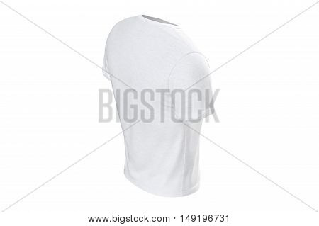 T-shirt mens white wear casual male design. 3D graphic