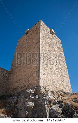 Tower In Santa Catalina Castle In Jaen