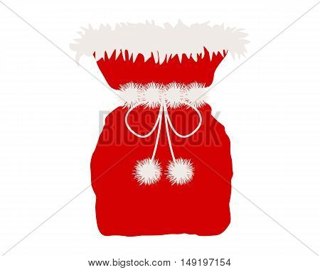 Santa Claus Bag Isolated On White
