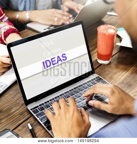 Ideas Creative Thinking Success Concept