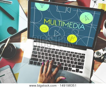 Multimedia Social Media Internet Concept