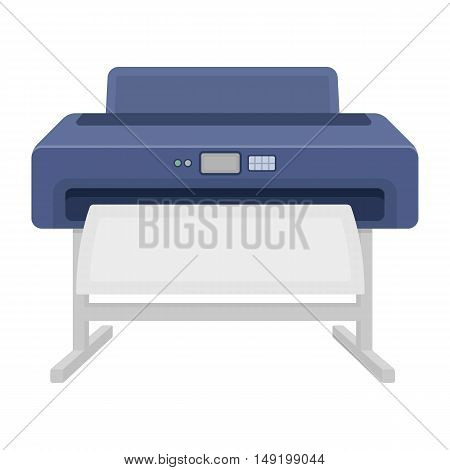 Large format printer icon in cartoon style isolated on white background. Typography symbol vector illustration.