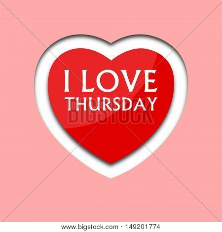 I love thursday, font type with heart