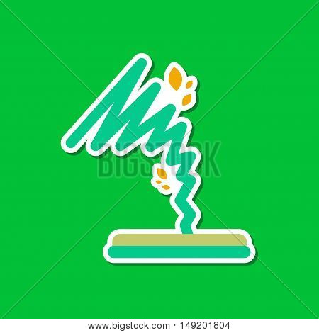 paper sticker on stylish background disaster tornado