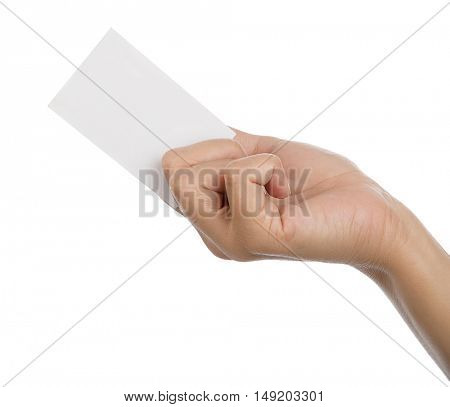 Blank Business Card on Hand