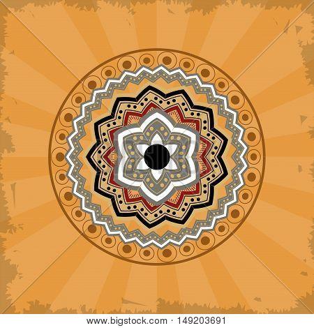 mandala over vintage background vector illustration design