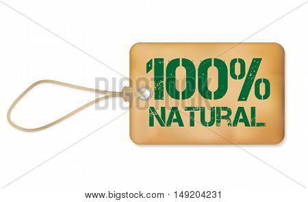100 Natutal Old Paper Grunge Label Vector Illustration EPS10